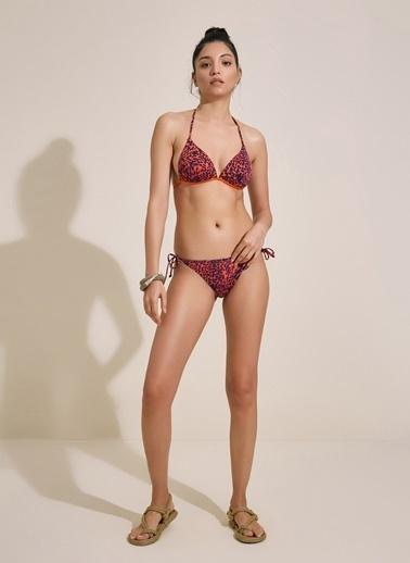 Morhipo Beach Dolgulu Üçgen Bikini Renkli